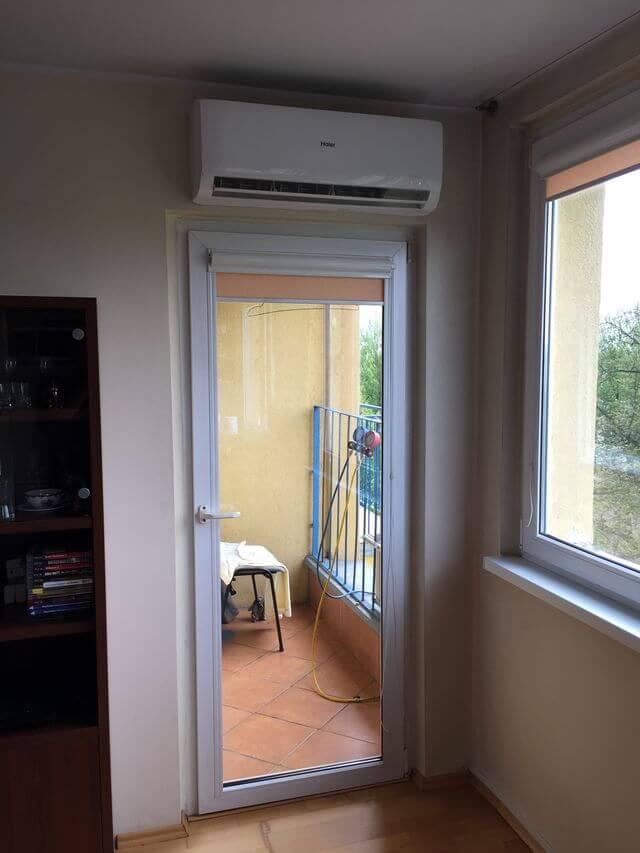 montaż klimatyzacji haier tundra 2,6 kW w mieszkaniu