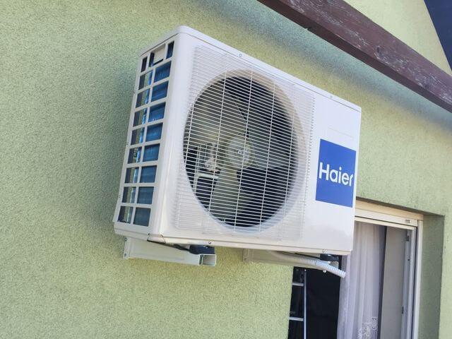 klimatyzacja haier na domu jednorodzinnym