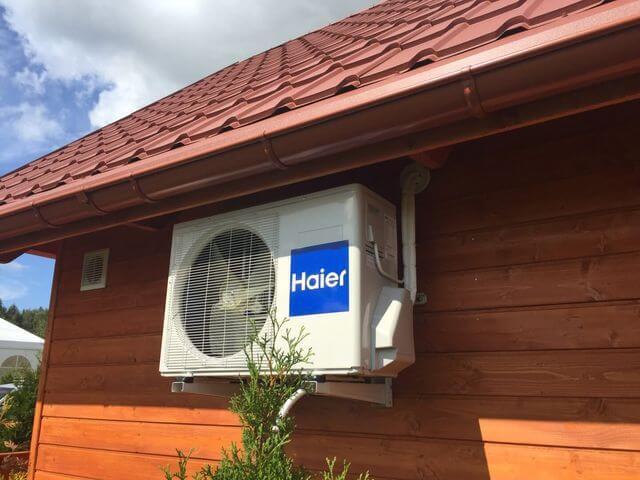 klimatyzator na domku całorocznym