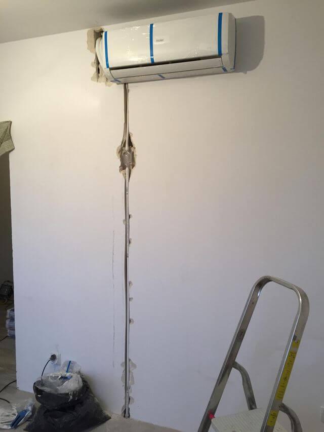 montaż klimatyzacji w salonie