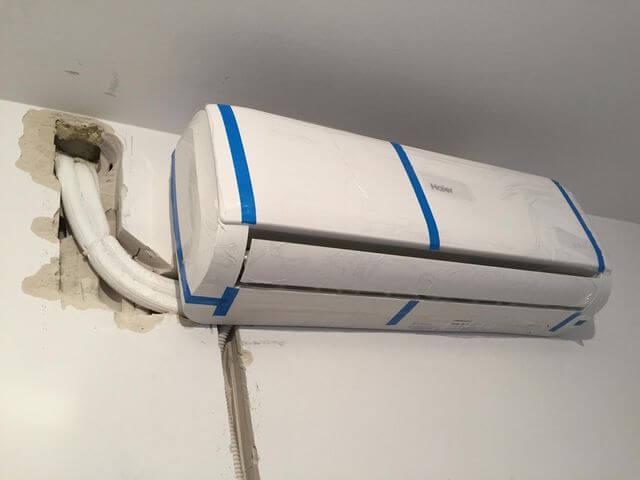 instalacja klimatyzacji w salonie