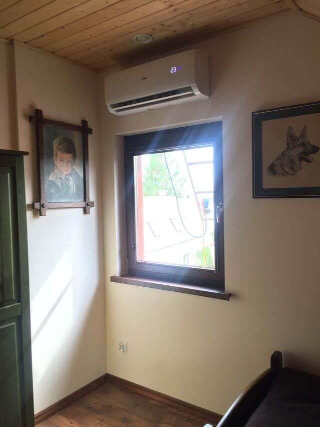 klimatyzacja w domu jednorodzinnym wewnątrz