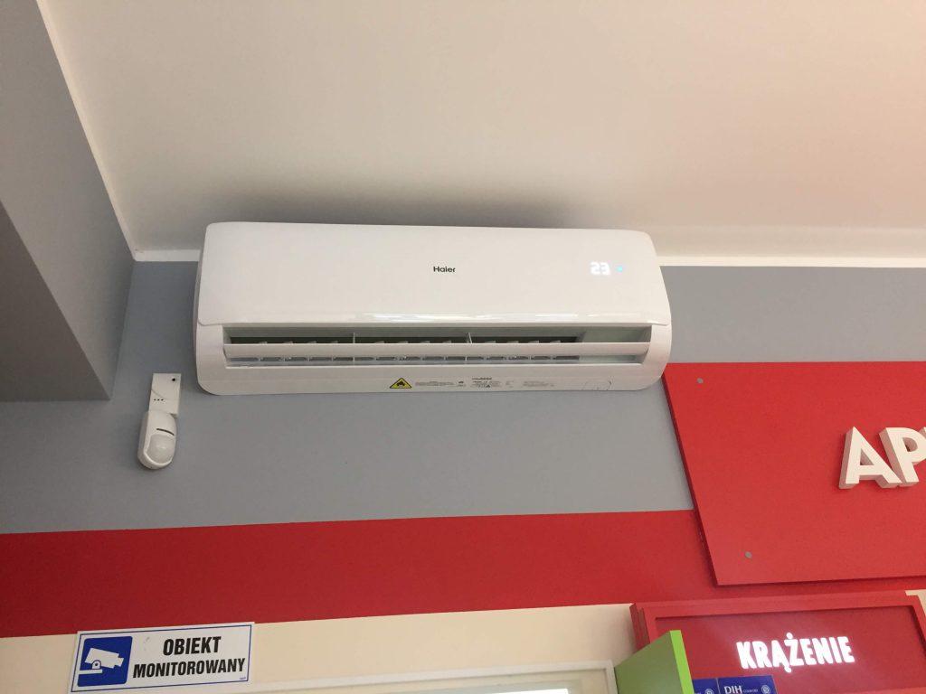 montaż klimatyzacji w aptece