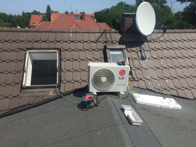 klimatyzator LG inverter v jednostka zewnętrza na dachu