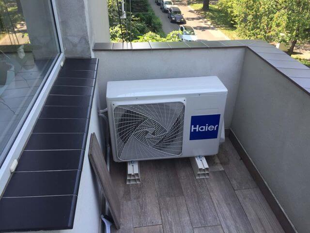 klimatyzacja zewnętrzna na balkonie we wrocławiu