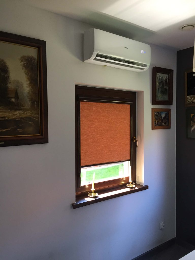 klimatyzacja wewnętrzna na ścianie