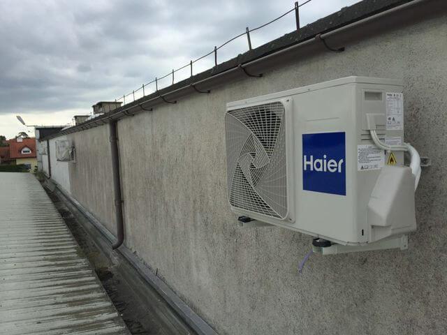 Montaż trzech klimatyzatorów HAIER TUNDRA GREEN o mocy chłodniczej 3,6 kW