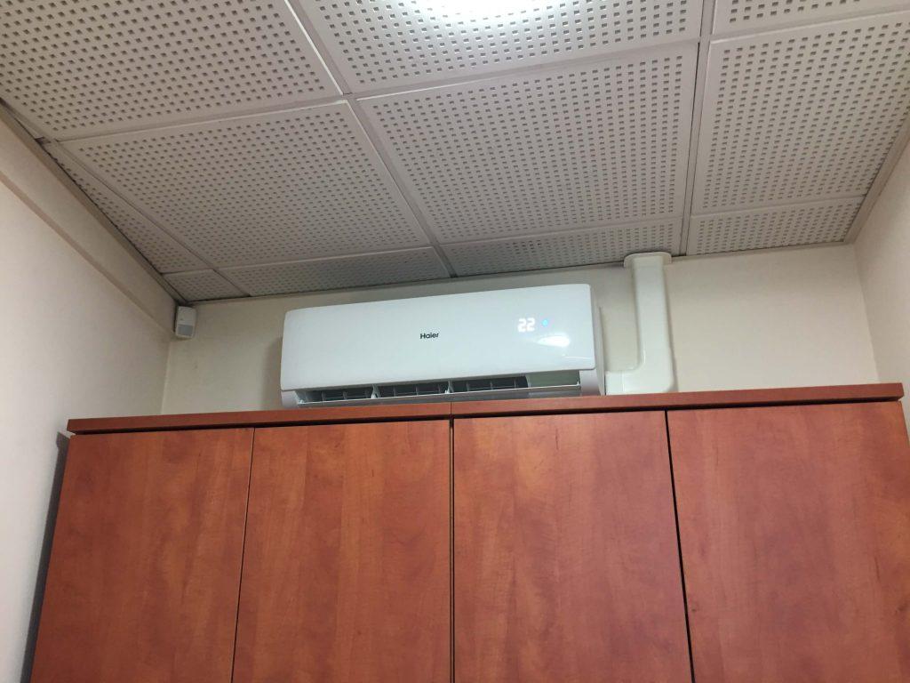 klimatyzator HAIER TUNDRA GREEN w biurze we Wrocławiu.