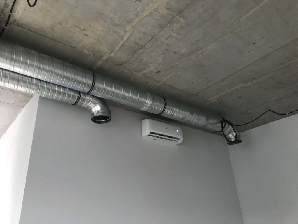 System wentylacji i kliatyzacja ścienna